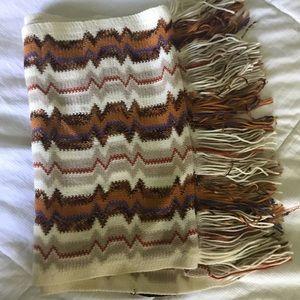 Missoni wool blend printed scarf